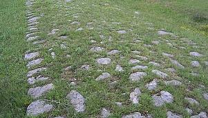 Roman road, village of Dolni Glavanak and village of Troyan